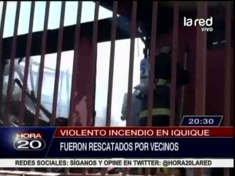 Familia se encuentra en estado crítico al ser salvados por bomberos en su vivienda en Iquique / Chile