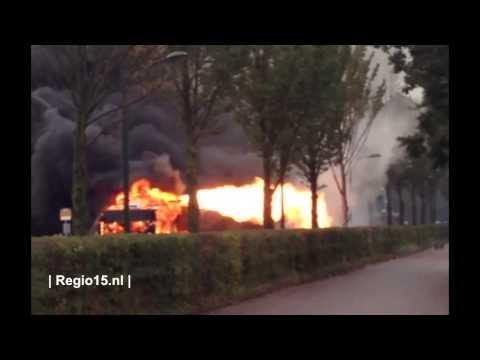 Incendio de bus alimentado con gas natural comprimido (GNC)