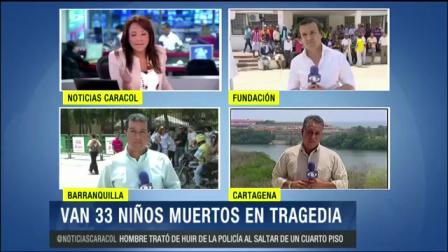 LUTO EN COLOMBIA POR LA TRAGEDIA DEL INCENDIO´DEL BUS ESCOLAR EN EL QUE MURIERON 33 NIÑOS - FUNDACIÓN, COLOMBIA