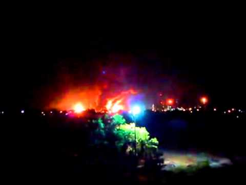 Explosión en la Refinería de AMUAY (Web rip de facebook) 25/08/2012