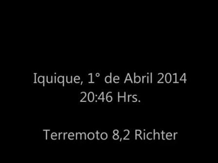 TRABAJO OPERATIVO DE SAR CHILE EN TERREMOTO DE IQUIQUE, CHILE