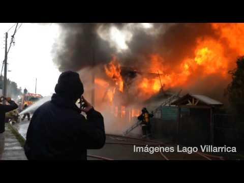 INCENDIO VILLARRICA 01/06/2014 VISTA HERMOSA - CALLE 11 DE SEPTIEMBRE - Chile