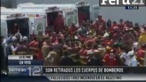 """TRAGEDIA EN PERÚ: FALLECEN TRES BOMBEROS EN INCENDIO """"EL AGUSTINO FABRICA DE CALZADO - PERÚ / Vídeo Destacado de La Hermandad de Bomberos"""