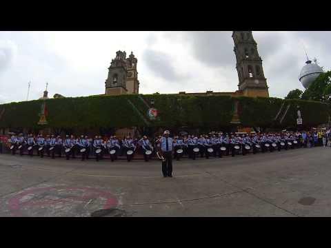 EXHIBICIÓN BANDA DE GUERRA DEL HEROICO CUERPO DE BOMBEROS DE CELAYA EN EL DÍA DEL BOMBERO - MÉXICO