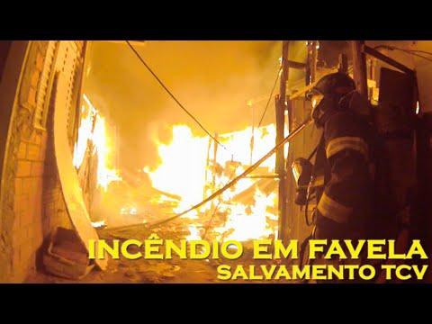 CAMARA EN CASCO: COMBATE A INCENDIO EN FAVELA VILLA MARIA - SAO PAULO EN BRASIL / Vídeo Destacado de La Hermandad de Bomberos