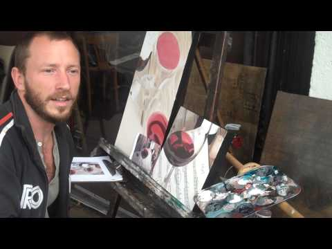 Artist Josh Talbott & Charley and Jesi at the Echo Park PDA art walk