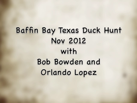 Baffin Bay Duck Hunt Nov 2012