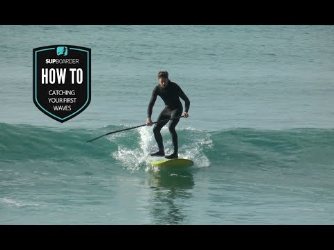 Catching your first waves on a SUP / How to video