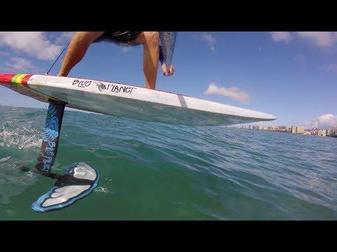 Fun SUP Foil session in Waikiki
