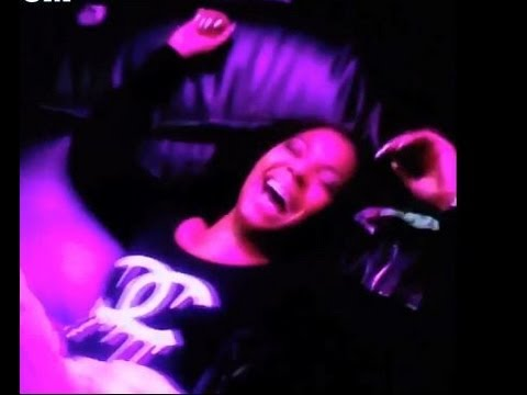 Ashanti Rides a Mechanical Bull Tilll She Takes The Buck !!