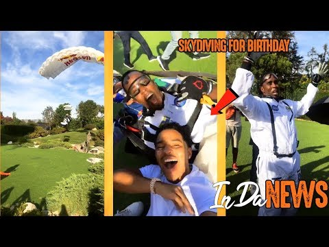 Diddy JUMPS OUT of Plane For His 49th Birthday (Lands Next To Playboy Mansion)