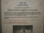 Perry Cox COA For Ringo Starr Autograph