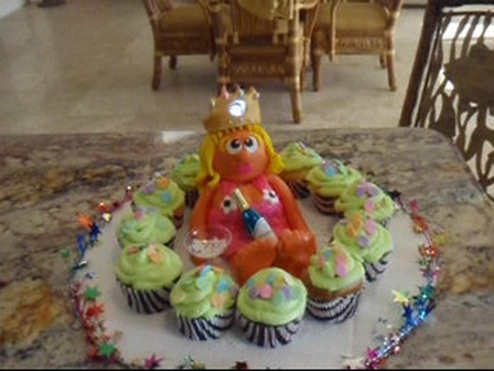 lightup princesscake and cupcakes