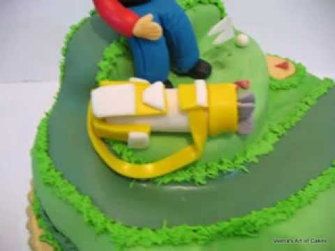 Decorating a cake - Golf Cake carving