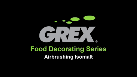 Grex airbrush video of isomalt creations