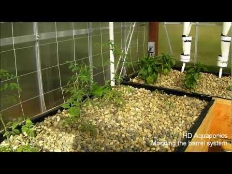 HD Aquaponics - Modding the barrel aquaponics system, adding a venturi, solar water heater