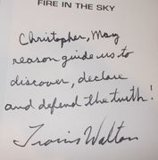 "Travis Walton Signed ""Fire In The Sky"" Book"