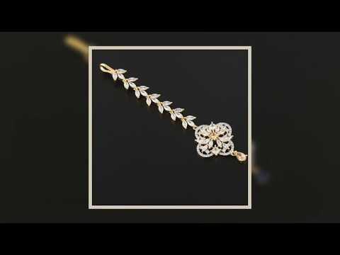 Latest Designs of American Diamond Maang Tika.