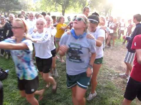 Went to a cross country meet and a dance broke out