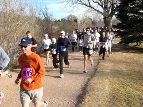 Start of the Pikes Peak Road Runners' Nielson Challenge, April 2 in Monument Valley Park