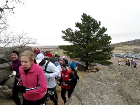 Start of Cheyenne Mountain 25K Trail Race