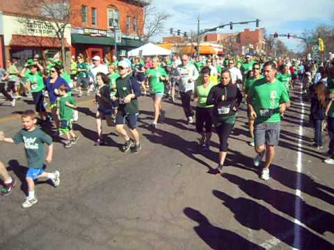 Start of the 5K on St. Patrick's Day in Colorado Springs