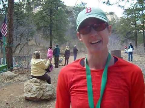 Christine Bailey wins the Big Mountain Trail Race Half Marathon