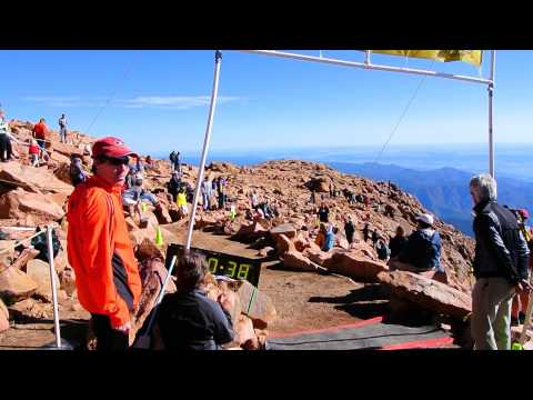Sage Canaday hits Pikes Peak Ascent finish at 14,115 feet