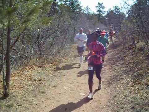 Start of the Big Mountain Trail Race Half Marathon