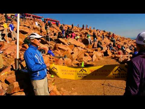 Kim Dobson touches the sky, wins 2016 Pikes Peak Ascent