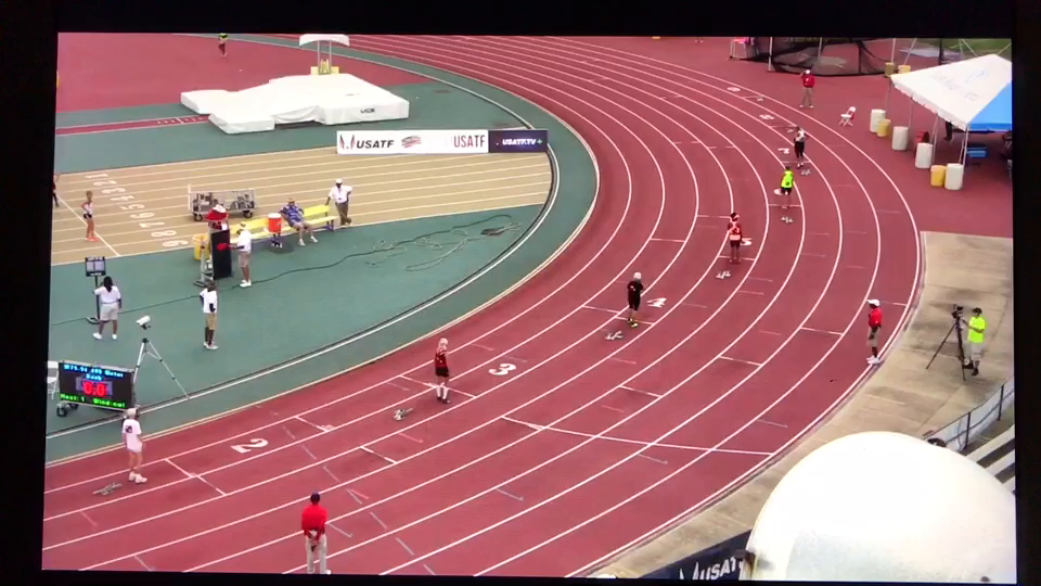 Mary Smith wins  75-79 USATF 400-meter championship