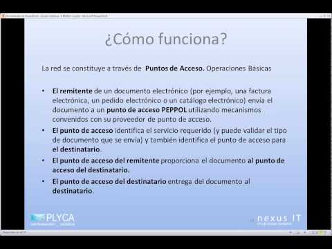 Seminario Virtual (Webinar) 8. PLYCA - La Red PEPPOL - 08-04-2014