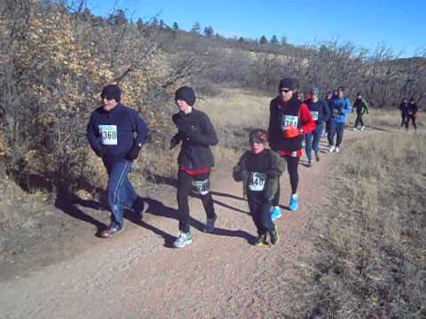 Start of the 2013 Winter Series I short-course race at Cheyenne Mountain State Park