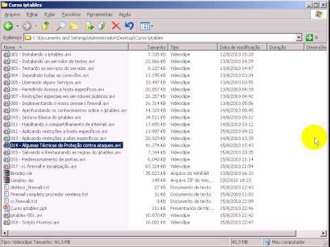 Video Tutorial iptables firewall com 1:49:00 de duração
