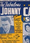 johhny cash signed 1960s poster