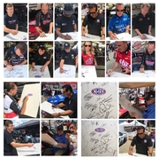 #1B-9, NHRA, White Board, Signed by 14 Drivers, with Picture Proof Photos