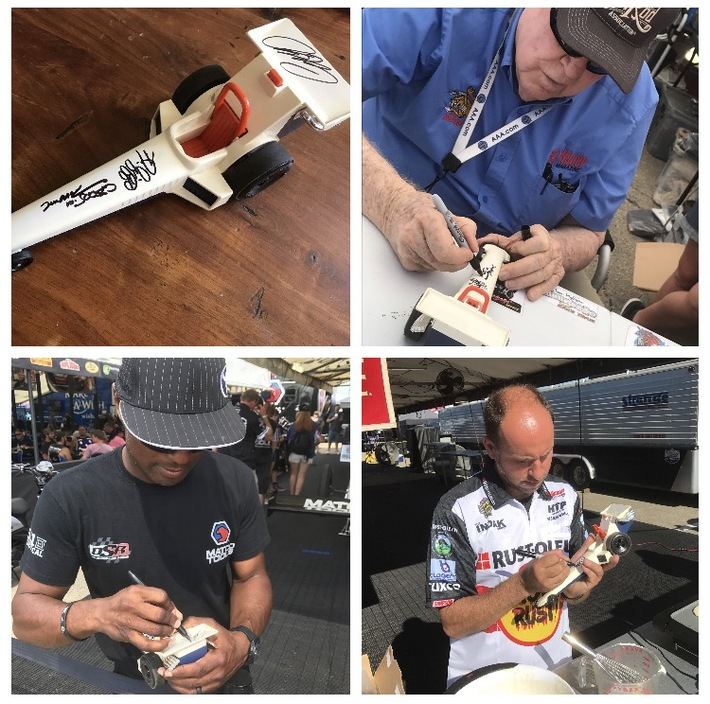 #3-47, NHRA, Tom (Mongoose) McEwen, TJ Rizzo, Antron Brown, Top Fuel Drivers Signing, 1980, Fisher Price, Top Fuel Dragster,