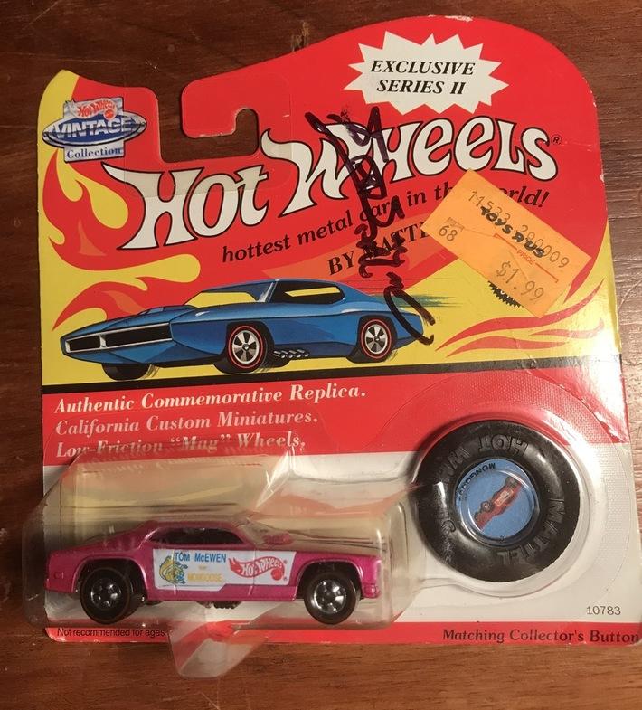 #14-15, NHRA, Tom(Mongoose)McEwen, Signing, Hot Wheels, Vintage, 1994, Series 2,