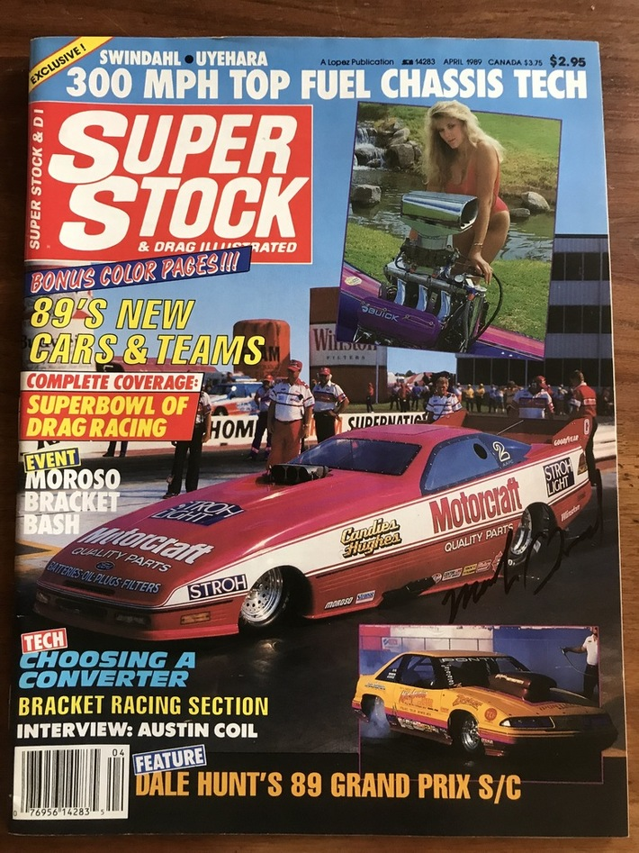 #28-37, , NHRA, Mark Oswald, Signing, Super Stock, Magazine, April, 1989, Motorcraft, Funny Car,