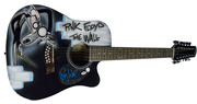 Pink Floyd Roger Waters Autographed Custom Airbrushed Guitar PSA/DNA