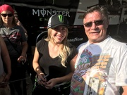With, Brittany Force, Top Fuel, Dragster, Monster, 2017, NHRA,