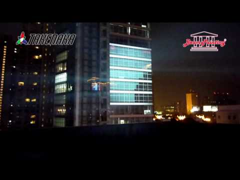 BeamPainting TAKENAKA 3D VIDEO MAPPING in Shanghai