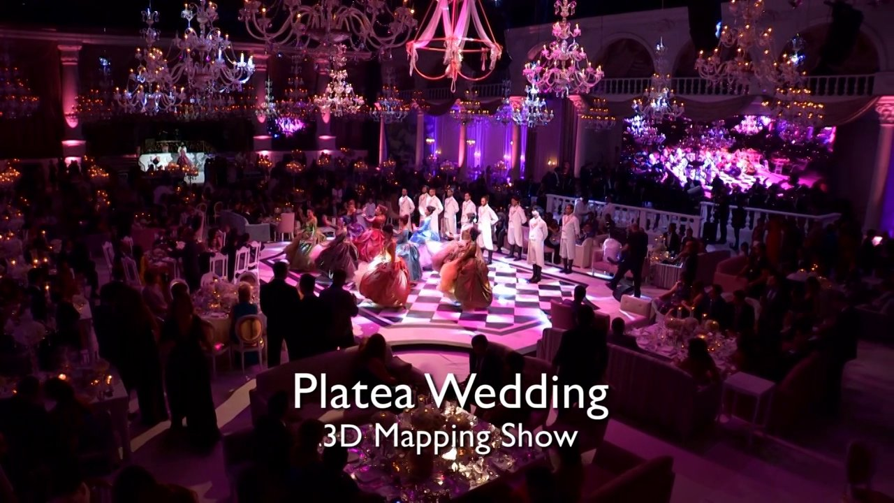 Platea Prime Wedding 3D Video Mapping Project by Ghada Blanco