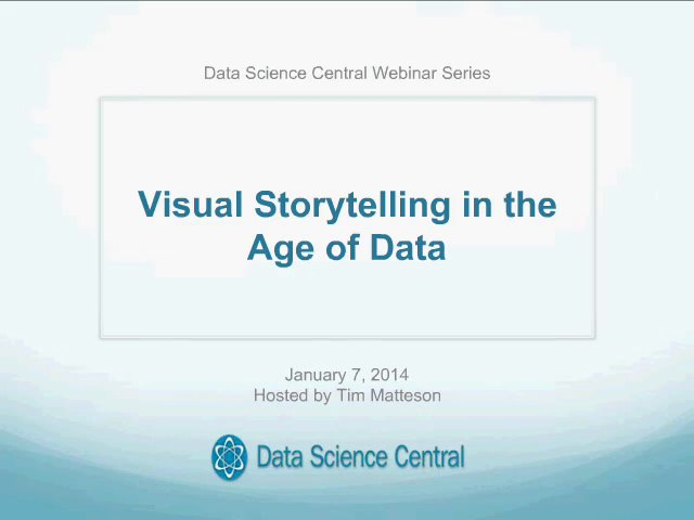 DSC Webinar Series: Visual Storytelling in the Age of Data