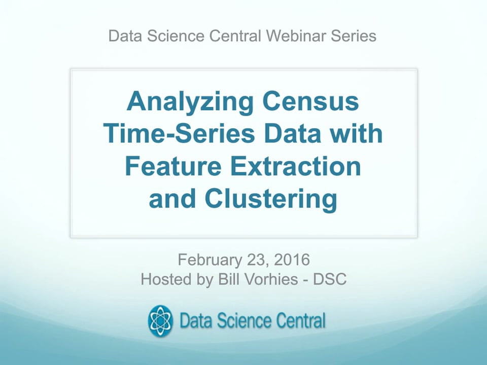 Analyzing Census Time-Series Data with Feature Extraction  and Clustering