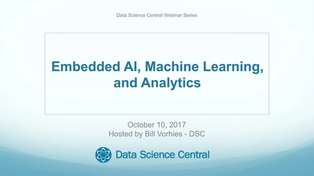 Embedded AI, Machine Learning, and Analytics
