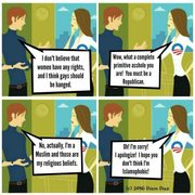Misogyny & Homophobia OK from a Muslim