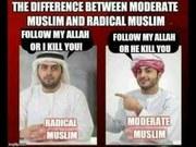Radical Muslim v. Moderate Muslim