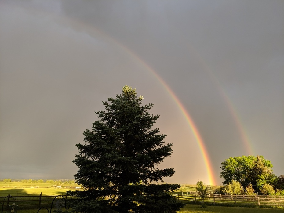 Rainbow after storm