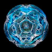 Cymatics photo of light water and sound